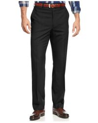 Michael Kors | Black Michael Solid Classic-fit Stretch Dress Pants for Men | Lyst