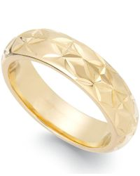 Signature Gold | Metallic Diamond-cut Star Ring In 14k Gold Over Resin | Lyst