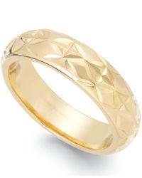 Signature Gold - Metallic Diamond-cut Star Ring In 14k Gold Over Resin - Lyst