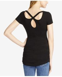 Jessica Simpson - Black Maternity Cut-out Tee - Lyst