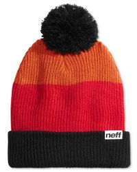 Neff | Red Snappy Ombre Striped Beanie for Men | Lyst