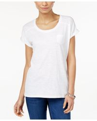 Style & Co. - White Pocket T-shirt, Only At Macy's - Lyst