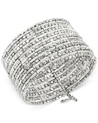 Kenneth Cole | Multicolor Silver-tone Seed Bead Coil Bracelet | Lyst