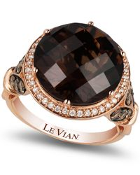 Le Vian | Brown Chocolate Quartz® (8 Ct. T.w.) And Diamond (3/4 Ct. T.w.) Ring In 14k Rose Gold | Lyst