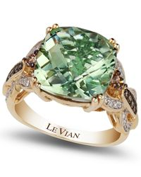 Le Vian | Green Amethyst (6 Ct. T.w.) And Diamond (1/3 Ct. T.w.) Ring In 14k Gold | Lyst