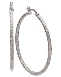 Giani Bernini - Metallic Large Hoop Earrings In Sterling Silver - Lyst