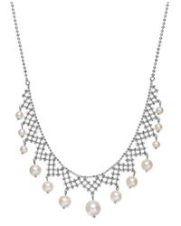 Macy's | Brown Pearl Lace By Effy Cultured Freshwater Pearl Necklace In Sterling Silver (4-1/2mm-8-1/2mm) | Lyst