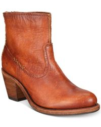 Frye - Brown Leslie Artisan Short Booties - Lyst