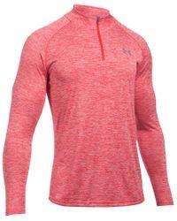 Under Armour - Orange Men's Tech Quarter-zip Pullover for Men - Lyst