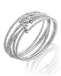 ABS By Allen Schwartz | Metallic Silver-tone Set Crystal Cuff Bracelet Set | Lyst
