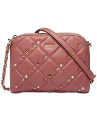 DKNY - Pink Barbara Small Zip Crossbody, Created For Macy's - Lyst