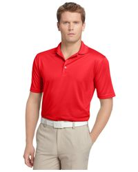 Izod - Red Performance Solid Grid Golf Polo for Men - Lyst