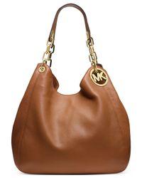 Michael Kors | Metallic Michael Fulton Large Shoulder Bag | Lyst