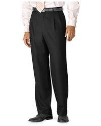Lauren by Ralph Lauren | Black 100% Wool Double-reverse Pleated Dress Pants for Men | Lyst
