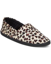 Charter Club | Multicolor Microvelour Memory Foam Slippers, Only At Macy's | Lyst