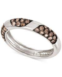 Le Vian | Metallic Chocolatier Chocolate Diamonds Band (5/8 Ct. T.w.) In 14k White Gold | Lyst