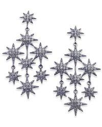 Danori - Metallic Silver-tone Pavé Star Chandelier Earrings - Lyst