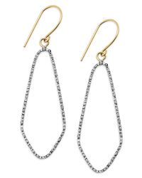 Macy's | Metallic Diamond Accent Marquise Drop Earrings In 14k Gold | Lyst