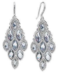 Charter Club | Blue Silver-tone Crystal Geometric Chandelier Earrings | Lyst