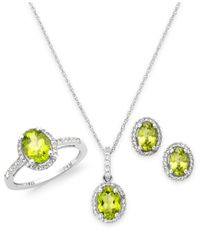 Macy's | Multicolor Peridot And White Topaz Jewelry Set In Sterling Silver (5-1/2 Ct. T.w.) | Lyst