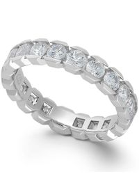 Macy's | Diamond Sizable Box Eternity Band In 14k White Gold (2 Ct. T.w.) | Lyst