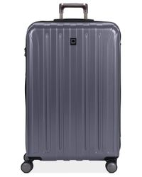 "Delsey | Gray Closeout! 60% Off Helium Titanium 29"" Expandable Hardside Spinner Suitcase for Men 