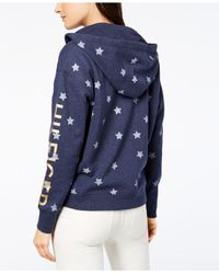 Tommy Hilfiger - Blue Sport Star-print Hoodie, Created For Macy's - Lyst