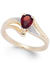 Macy's | Multicolor Garnet (3/4 Ct. T.w.) And Diamond Accent Ring In 14k Gold | Lyst