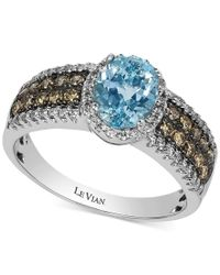 Le Vian | Blue Aquamarine (1 Ct. T.w.) And Diamond (5/8 Ct. T.w.) Ring In 14k White Gold | Lyst