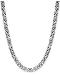 Macy's - Multicolor Popcorn Texture Necklace In Sterling Silver - Lyst