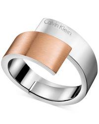 Calvin Klein | Metallic Two-tone Bypass Ring | Lyst