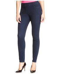 Hue   Blue Curvy Fit Jeans Leggings   Lyst