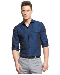 INC International Concepts | Blue Men's Core Topper Shirt, Only At Macy's for Men | Lyst