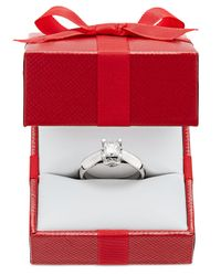 Macy's | Certified Diamond Solitaire Engagement Ring (1 Ct. T.w.) In 14k White Or Two-tone Gold | Lyst
