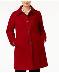 Anne Klein - Red Plus Size Walker Coat - Lyst