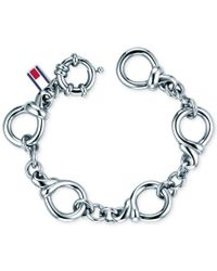 Tommy Hilfiger - Metallic Stainless Steel Classic Signature Link Bracelet - Lyst