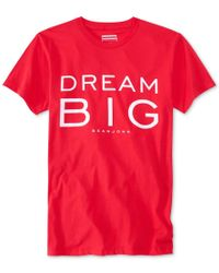 Sean John | Red Men's Dream Big T-shirt, Only At Macy's for Men | Lyst