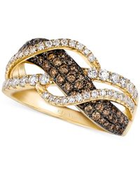 Le Vian - Brown Chocolate And White Diamond Woven Ring In 14k Gold (1 Ct. T.w.) - Lyst