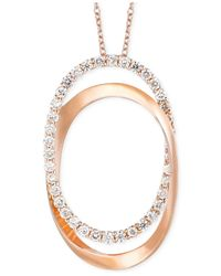 Le Vian | Pink Diamond Oval Pendant Necklace In 14k Rose Gold (5/8 Ct. T.w.) | Lyst