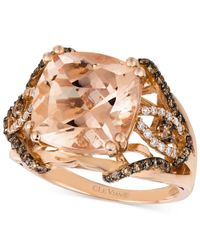 Le Vian | Multicolor Morganite (6 Ct. T.w.) And Diamond (1/2 Ct. T.w.) Ring In 14k Rose Gold | Lyst