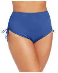Michael Kors - Blue Michael Plus Size High-waist Side-tie Bikini Bottoms - Lyst