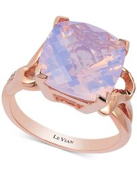 Le Vian - Purple Lavender Quartz (5-9/10 Ct. T.w.) And Diamond (1/10 Ct. T.w.) Ring In 14k Rose Gold - Lyst