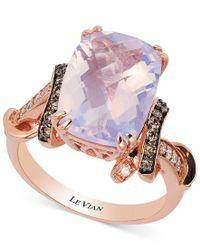 Le Vian | Multicolor Lavender Quartz (5-1/10 Ct. T.w.) And Diamond (1/3 Ct. T.w.) Ring In 14k Rose Gold | Lyst