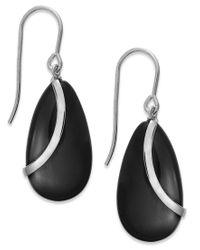 Macy's | Metallic Onyx Overlay Drop Earrings In Sterling Silver (10-1/3 Ct. T.w.) | Lyst