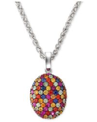 Effy Collection | Multicolor Balissima By Effy Multi-color Sapphire Pendant Necklace In Sterling Silver (3-1/10 Ct. T.w.) | Lyst