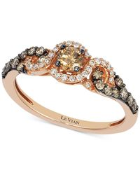 Le Vian | Pink Diamond Three-stone Ring In 14k Rose Gold (1/2 Ct. T.w.) | Lyst