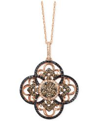 Le Vian - Pink Diamond Clover Pendant Necklace In 14k Rose Gold (7/8 Ct. T.w.) - Lyst