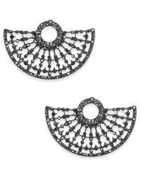 INC International Concepts - Metallic Hematite-tone Gray Pavé Stud Earrings - Lyst