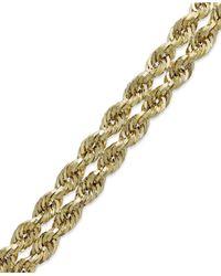 Macy's - Metallic Chain Double Rope Bracelet In 14k Gold - Lyst