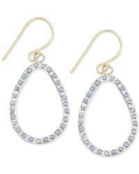 Macy's | Metallic Diamond Accent Open Teardrop Earrings In 14k Gold | Lyst